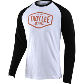 Troy Lee Designs Motor Oil LS Tee, white/black